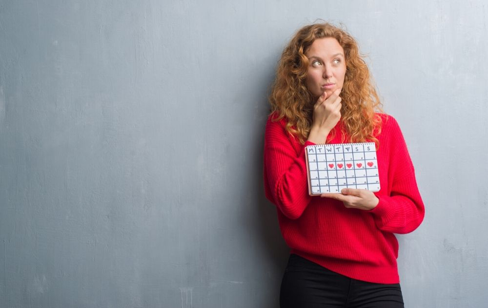 woman unsure if her period is regular or irregular
