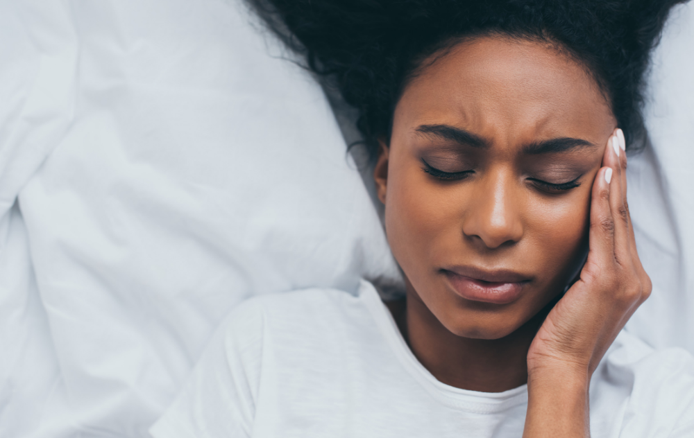 Woman feeling tired from Uterine Fibroids